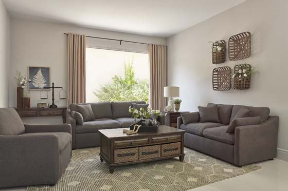 Contrary 2-piece Reversible Cushion Living Room Set Charcoal