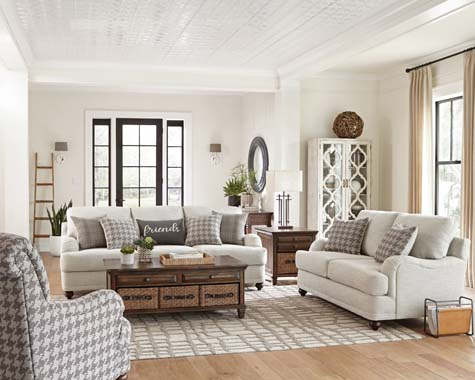 Glenn Cushion Back Sofa Light Grey - Hover