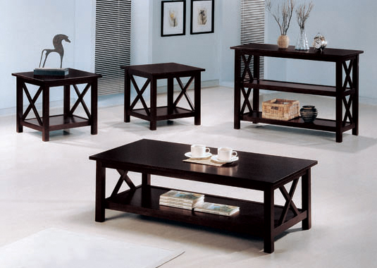 3-piece Occasional Table Set Deep Merlot