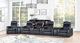 Cyrus Home Theater Upholstered Console Black - Hover