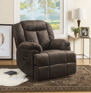 Power Lift Recliner with Wired Remote Chocolate - Hover
