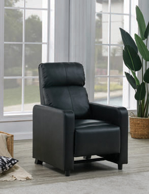 Toohey Home Theater Push Back Recliner Black - Hover
