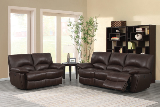 Clifford Pillow Top Arm Motion Loveseat Chocolate - Hover