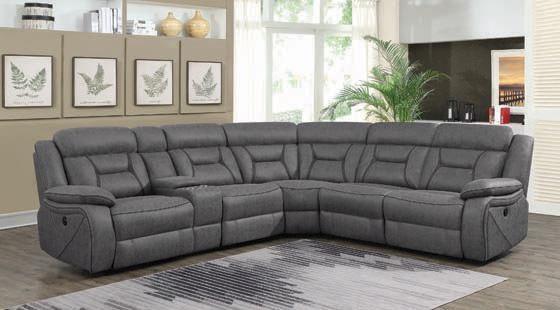 Camargue Casual Grey Motion Sectional - Hover