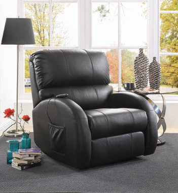 Upholstered Power Lift Recliner Black - Hover