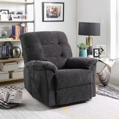 Upholstered Power Lift Recliner Grey - Hover