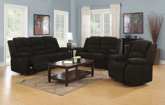 Gordon Pillow Top Arm Motion Loveseat Chocolate - Hover