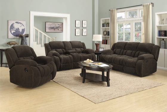Weissman Pillow Top Arm Motion Sofa Chocolate - Hover