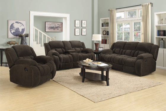 Weissman Motion Loveseat with Console Chocolate - Hover