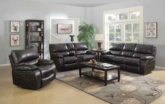 Willemse Motion Sofa with Drop-down Table Dark Brown - Hover