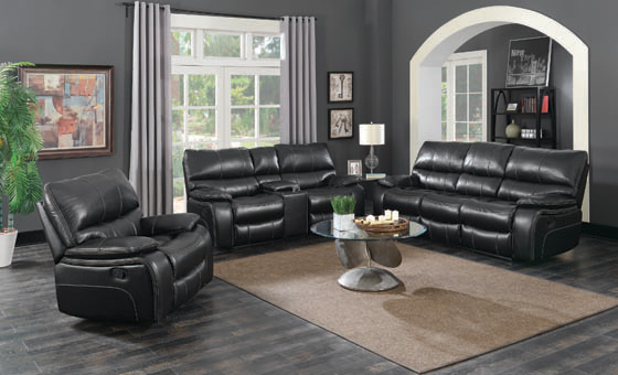 Willemse Motion Loveseat with Console Black - Hover