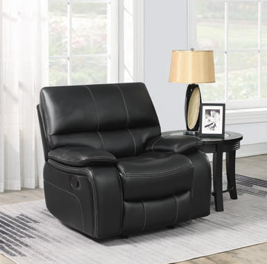 Willemse Upholstered Glider Recliner Black - Hover