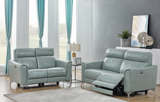 Alberta Upholstered Power Loveseat Dark Seafoam - Hover