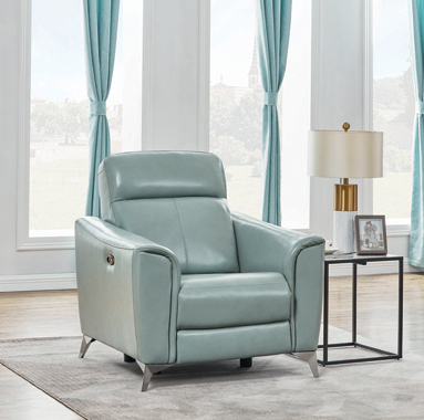 Alberta Upholstered Power Recliner Dark Seafoam - Hover
