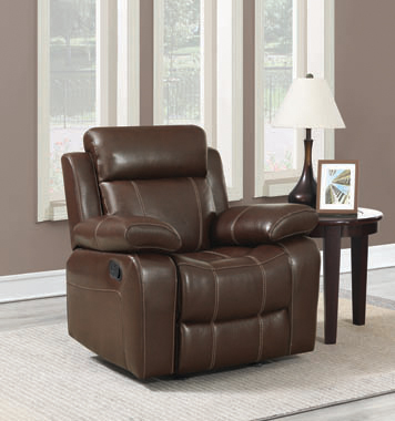 Myleene Pillow Top Arm Glider Recliner Chestnut - Hover