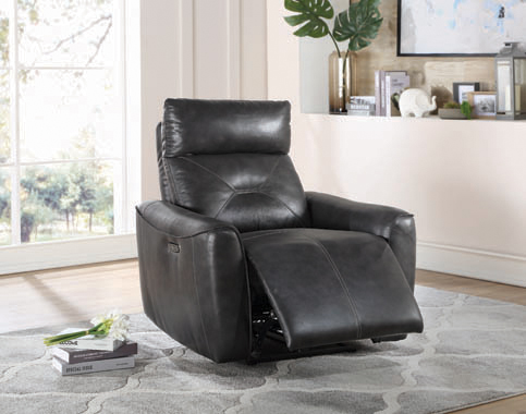 Jupiter Upholstered Power^2 Recliner Charcoal - Hover