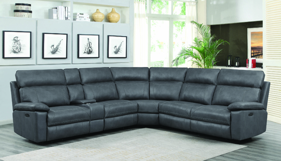 Albany 6-Piece Modular Power^2 Sectional Grey - Hover