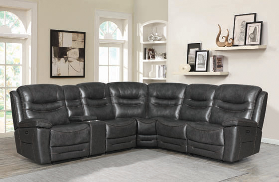 Destin 6-piece Modular Power^2 Sectional Charcoal - Hover