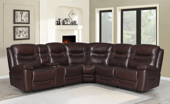 Destin 6-piece Modular Power^2 Sectional Brown - Hover