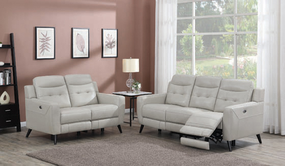 Lantana Upholstered Power Sofa Beige - Hover