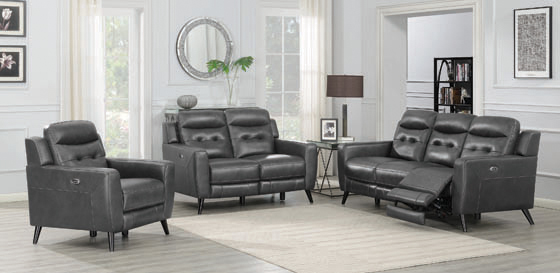 Lantana Upholstered Power Loveseat Charcoal - Hover