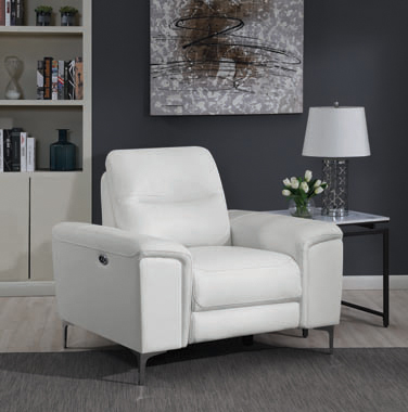 Largo Upholstered Power Recliner White - Hover