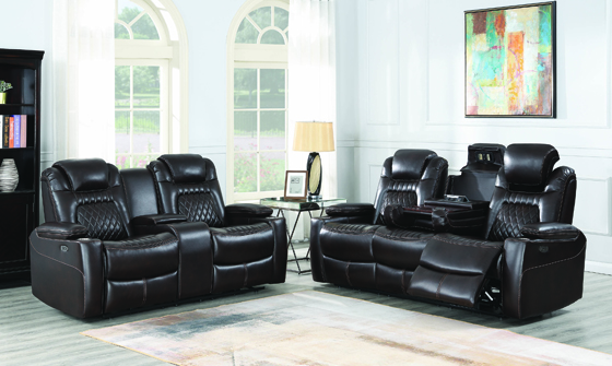 Korbach 2-piece Power^2 Living Room Set Espresso - Hover