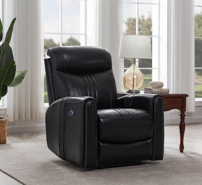Cushion Back Power^3 Recliner Black - Hover