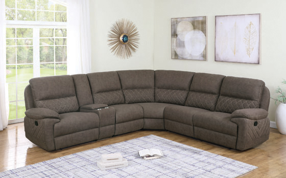 Variel 6-piece Modular Motion Sectional Taupe