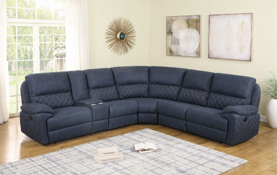 Variel 6-piece Modular Motion Sectional Blue - Hover
