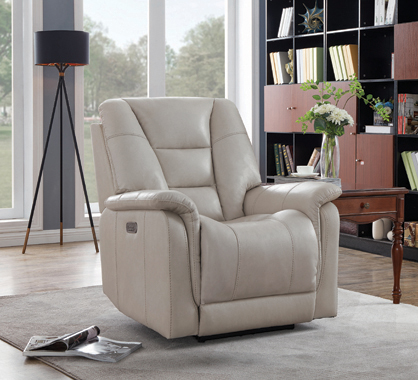 Pillow Top Arms Power^3 Recliner Cream - Hover