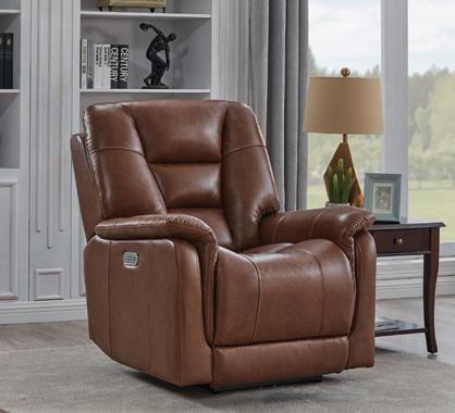 Pillow Top Arms Power^3 Recliner Chestnut - Hover