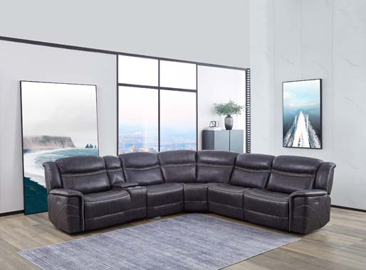 Bluefield 6-piece Modular Motion Sectional Charcoal - Hover