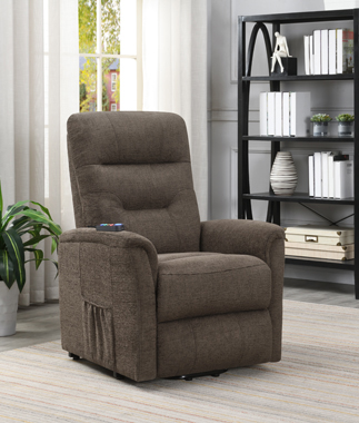 Power Lift Recliner with Storage Pocket Brown - Hover