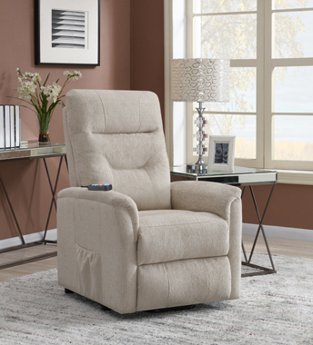 Power Lift Recliner with Storage Pocket Beige - Hover