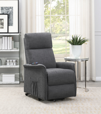 Power Lift Recliner with Wired Remote Charcoal - Hover