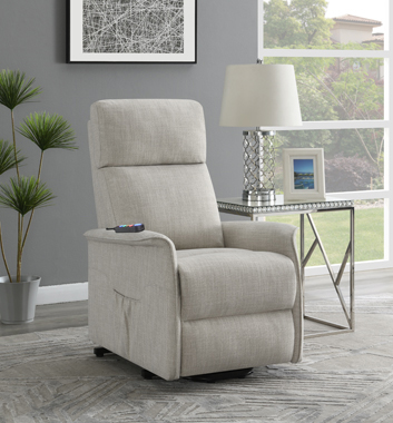 Power Lift Recliner with Wired Remote Beige - Hover