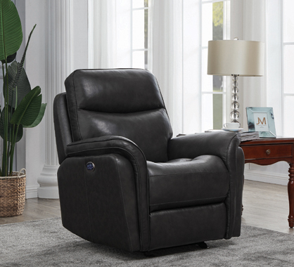 Pillow Top Arms Upholstered Power^3 Glider Recliner Charcoal - Hover