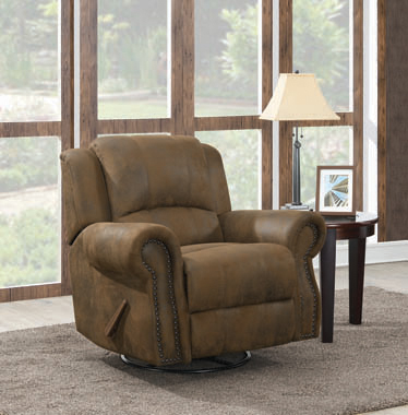 Sir Rawlinson Swivel Rocker Recliner Buckskin Brown - Hover