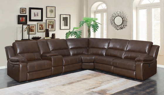 Channing Power Motion Sectional Brown - Hover