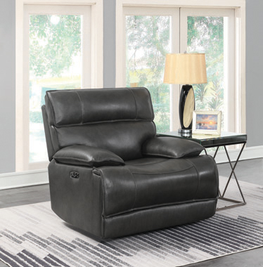 Stanford Power^2 Glider Recliner Charcoal - Hover