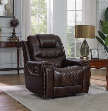 North Cushion Back Power^2 Glider Recliner Dark Brown - Hover