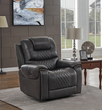 North Cushion Back Power^2 Glider Recliner Grey - Hover