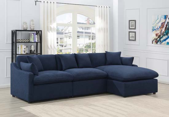 Destino 3-piece Modular Power Sectional Midnight Blue - Hover