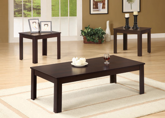 3-piece Rectangular Occasional Table Set Cappuccino