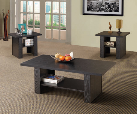 3-piece Occasional Table Set Black Oak