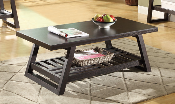 Watsonville Coffee Table with Lower Shelf Cappuccino - Hover