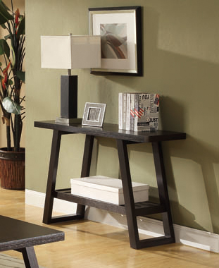 Watsonville Sofa Table with Lower Shelf Cappuccino - Hover