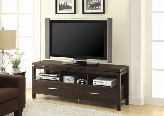 2-drawer TV Console Dark Walnut - Hover