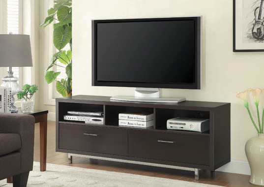 2-drawer Rectangular TV Console Cappuccino - Hover